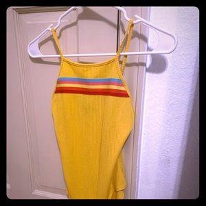 Yellow rainbow onesie
